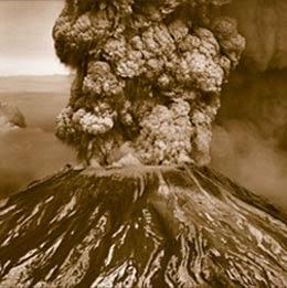 Ilustrasi Letusan Krakatau