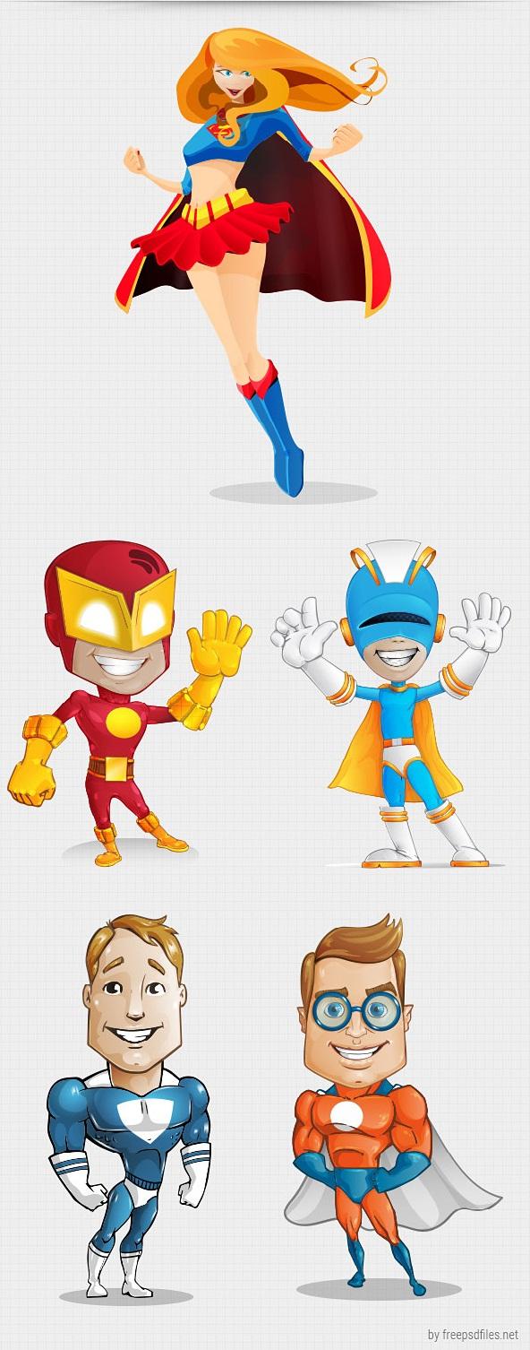 Vektor Karakter Superhero
