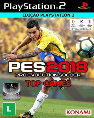 Pro Evolution Soccer 2018 TOP GAMES (PS2) Atualizado Agosto 2017