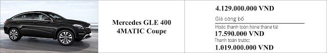 Giá xe Mercedes GLE 400 4MATIC Coupe 2019 khuyến mãi giảm giá hấp dẫn