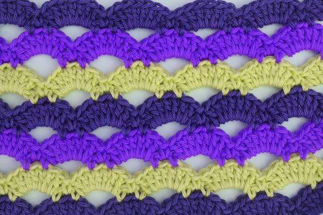 5 - Crochet Imagen Puntada de abanicos a crochet para blusas por Majovel Crochet