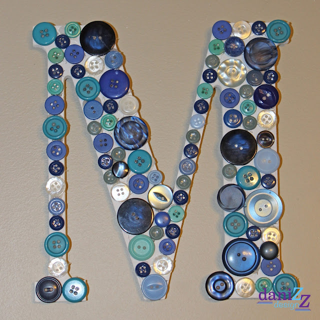 Button Monogramed Letter, Blue Button Monogramed Letter, Teal Button Monogramed Letter, Button Letter, Button Initial, Button Wall Decor, Button Monogram, Monogramed Letter, DIY Button Monogramed Letter, DIY Button Letter, DIY Monogramed Letter, Button craft, Button M, Monogramed Wall, Monogramed M, easy monogramed letter, easy letter, easy wall letter, DIY wall letter, buttons, button art, nursery decor, room decor, wall decor