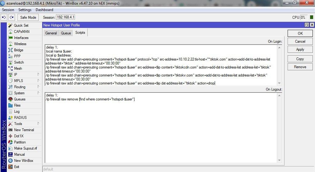Script Hotspot Khusus Akses aplikasi TikTok