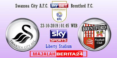 Prediksi Swansea City vs Brentford — 23 Oktober 2019