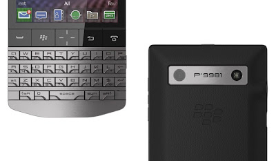 BlackBerry Porsche Design P'9981 keyboard and back