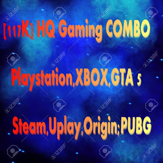[117K] HQ Gaming COMBO - (Playstation,XBOX,GTA 5,PUBG,Steam,Uplay,Origin)