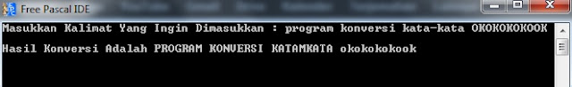 Program Konversi Kalimat Pascal