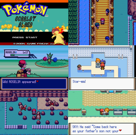 Pokemon Scarlet Blaze GBA ROM Hack Download
