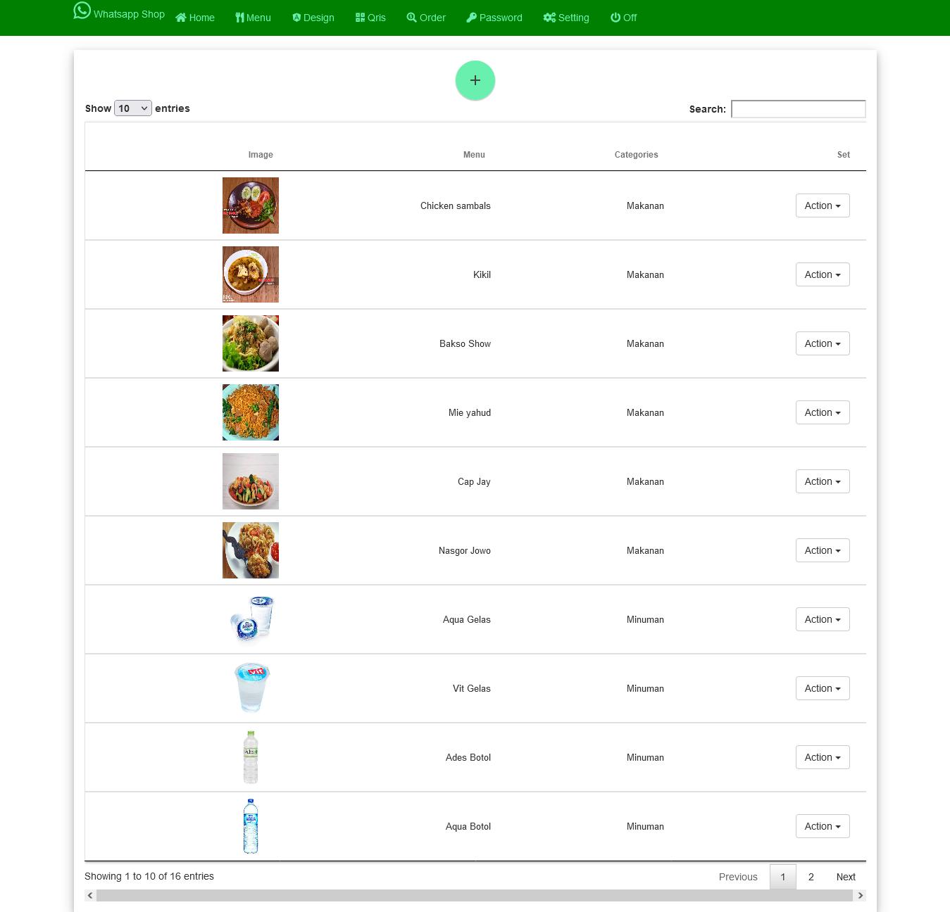 whatsapp online shop order toko online shop aplikasi restoran web app terbaru