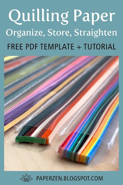 Quilling Paper Organization Storage Ideas