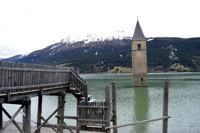 campanile sommerso lago di resia