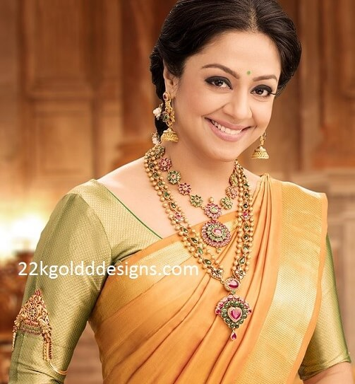 Jyothika in Precious Gemstone Jewellery