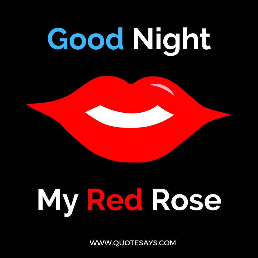 Good Night Red Lips for Lover