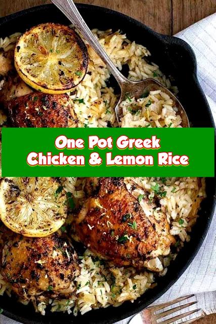#One #Pot #Greek #Chicken #And #Lemon #Rice