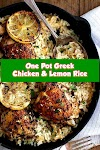 #One #Pot #Greek #Chicken #And #Lemon #Rice