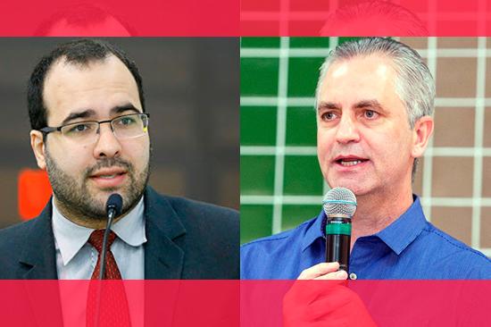 O vereador Jean Marques (Podemos) e o prefeito Ulisses Maia (PSD)