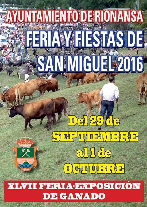 Feria y Fiestas de San Miguel 2016 en Rionansa
