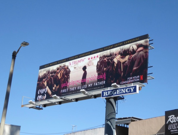 First They Killed My Father FYC billboard