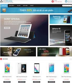 Giao diện Web bán Điện thoại - Theme Blogspot - Blogspotdep.com