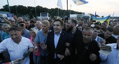 Саакашвили удалось попасть в Украину.