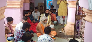 बालीपुर धाम के संत ने नर्सिंग मंदिर में दर्शन कर राम स्तुति की