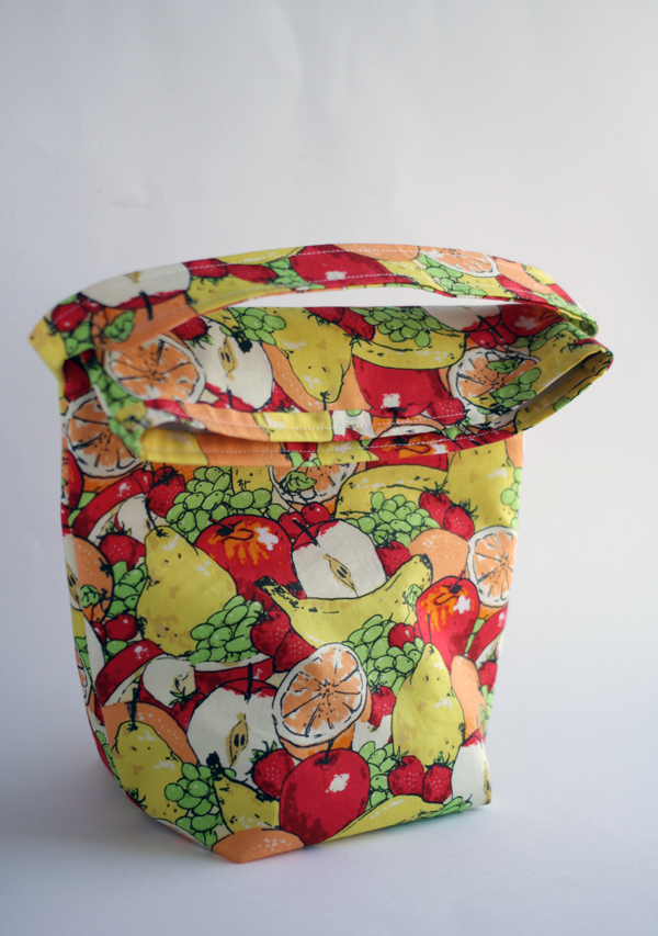 how to sew a lunch sack with free pattern