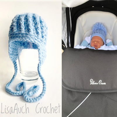 free crochet baby hat with earflaps Free crochet pattern