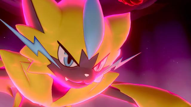 Zeraora Dinamax Pokemon Espada Escudo