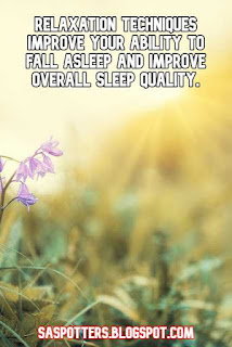 Relaxation techniques improve your ability to fall asleep and improve overall sleep quality.