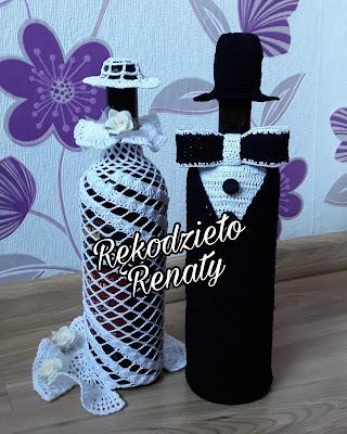 Dekoracja na butelkę *Para Młoda*