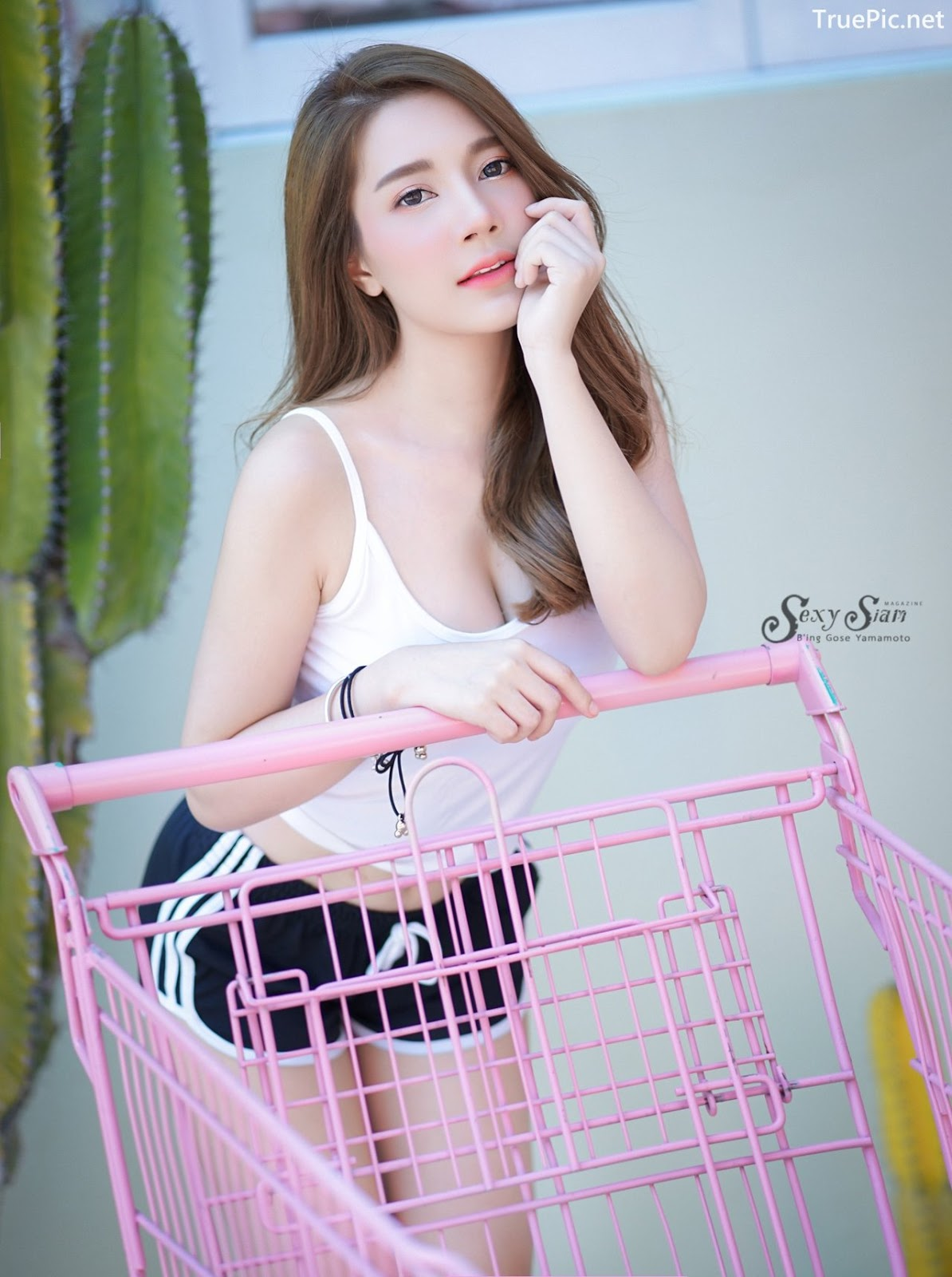 Image Thailand Model - Sasipa Tungmay Jibkrapong - White Crop Top - TruePic.net - Picture-10