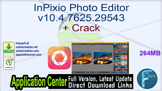 InPixio Photo Editor v10.4.7625.29543 + Crack