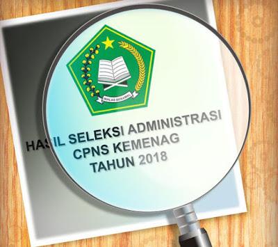 Hasil Seleksi Administrasi CPNS Kemenag Tahun 2018