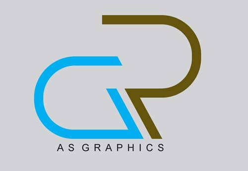 AR Alphabet Logo Design Vector