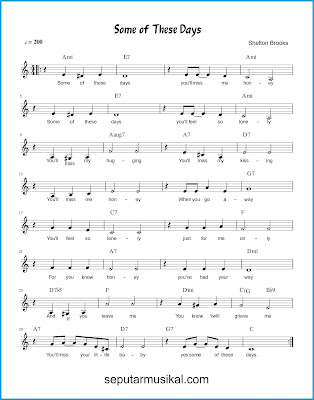 Some of These Days chords jazz standar
