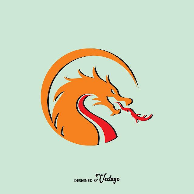 Dragon Gaming Logo Vector