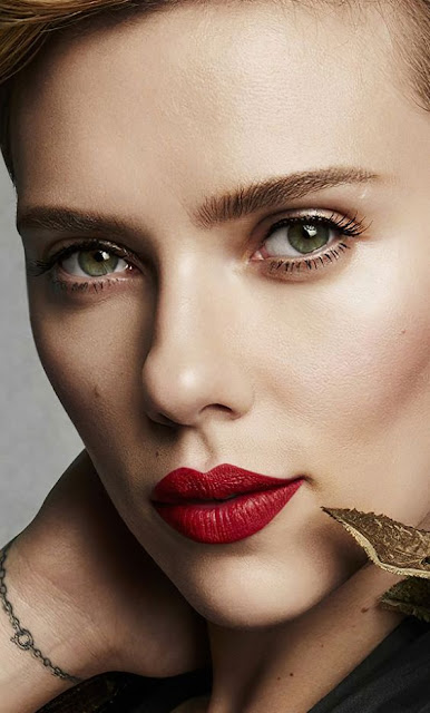 Beautiful and gorgeous, Red lips, Scarlett Johansson Wallpaper