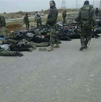 "Google translation of tweet: ""Iranian and Lebanese militias carried yesterday executed four people and an affront to the rest of the displaced # Aleppo before they release the convoys and return to the besieged neighborhoods"""