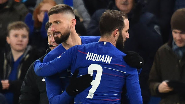 Everton v Chelsea : You decide - Gonzalo Higuain or Olivier Giroud to start?