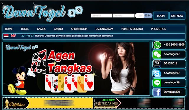 Bandar Judi Togel Online Terbesar di Indonesia DewaTogel99 : Bandar Judi Togel Online Terbesar di Indonesia