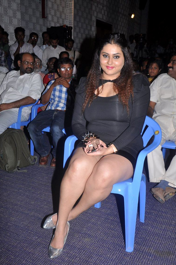 Superb Curvy Figure of Namitha Kapoor In Tight Short Black Dress