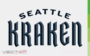 Seattle Kraken Wordmark Logo (.CDR)