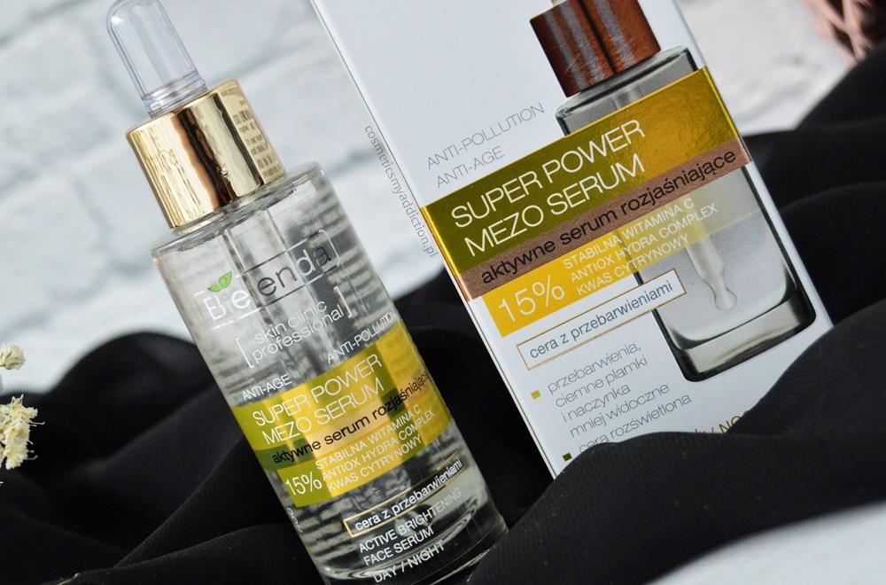 Bielenda, SKIN CLINIC PROFESSIONAL, Super Power Mezo Serum, Aktywne serum rozjaśniające z witaminą C Anti-Age