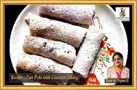 Indian Recipes - Panpole with coconut filling