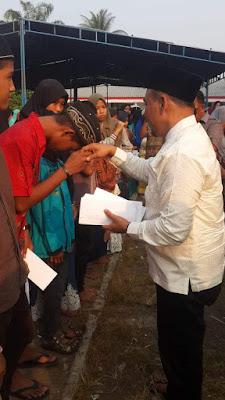 Bupati Labuhanbatu Santuni Anak Yatim Piatu Di Kecamatan Bilah Hilir