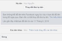 3 Bước Đơn Giản Đổi Tên Facebook Trước 60 Ngày Hoặc Quá Lần Đổi Tên