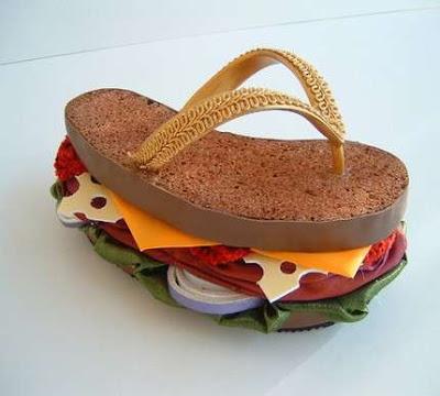 chanclas estilo sandwich
