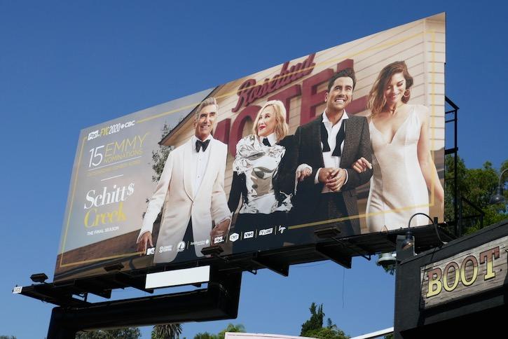 Schitts Creek 2020 Emmy nominee billboard