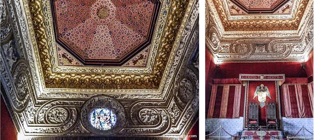 Sala do trono do Alcázar de Segóvia