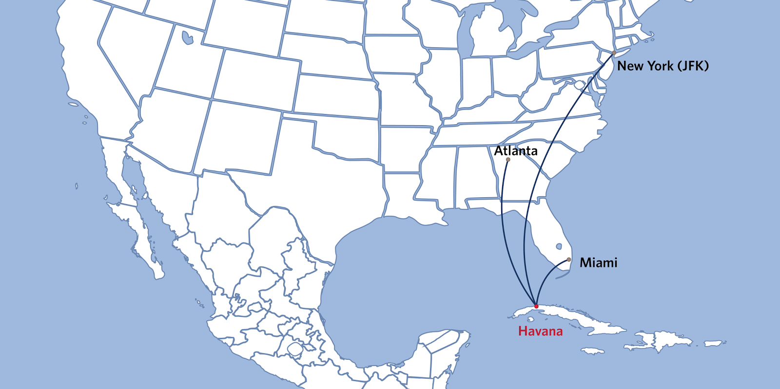 Delta retorna a Cuba após hiato de 55 anos